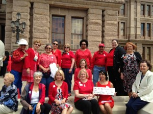AAUW Texas fighting for equal pay at the Texas Capitol, April 14th, 2015