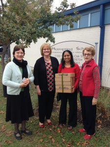 Donating tablets to Mainspring Schools