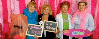 Austin branch members having fun at Girlstart fundraising luncheon