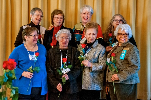 Past presidents at the 90th anniversary luncheon