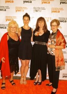 YWCA Award Celebration with (L to R) Marsha Endahl Kramer, Shiphrah Evelyn Meditz, Monica Benoit-Beatty, and Anita Knight celebrating Monica's Lifetime Achievement Award, June, 2014.