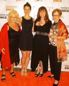 YWCA Award Celebration with (L to R) Marsha Endahl Kramer, Shiphrah Evelyn Meditz, Monica Benoit-Beatty, and Anita Knight celebrating Monica's Lifetime Achievement Award, June, 2014.