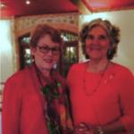 (L-R)Anita Knight with the recipient, Virginia Marie Raymond, JD, PhD.